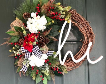 Christmas Wreath, Christmas Wreaths For Front Door, Christmas Door Wreath,  Artificial Christmas Wreath, Christmas Wreaths