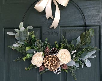 christmas wreath wreath for christmas christmas decor hoop wreath modern wreath door wreath front door wreath natural wreath