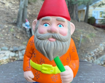 """NEW 8 1/2"""" Tall Hand-Painted Ceramic Pride Gnome"""