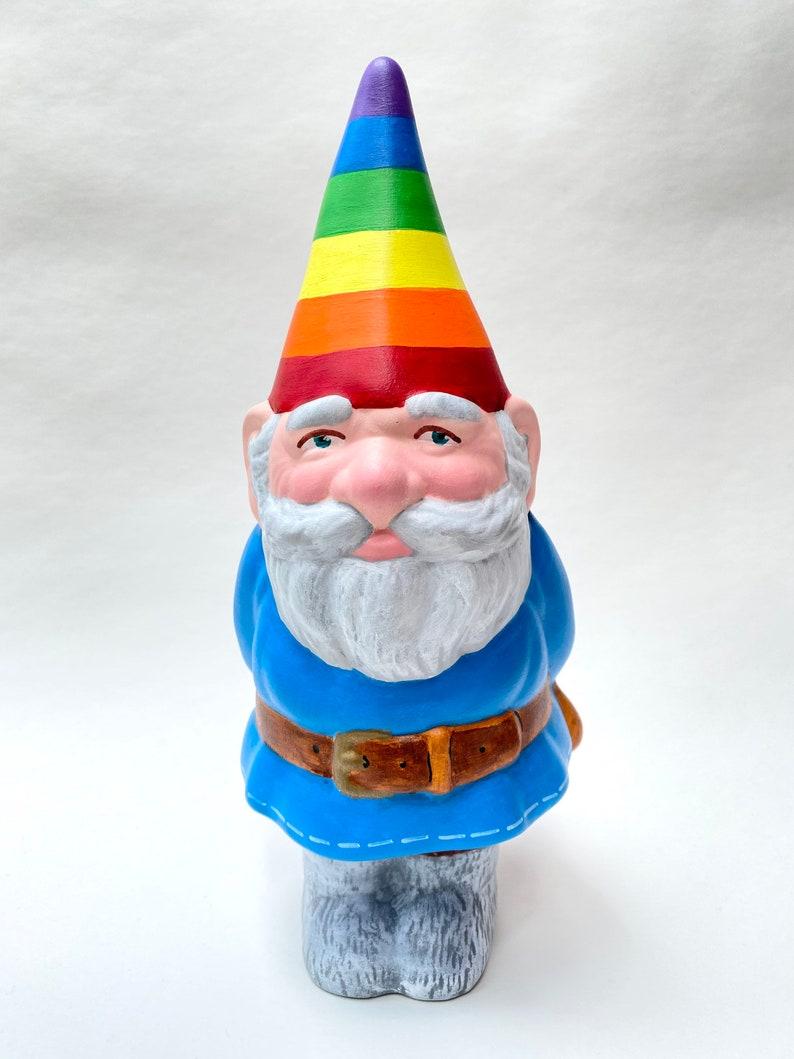 Hand-Painted Ceramic Pride Gnome image 0