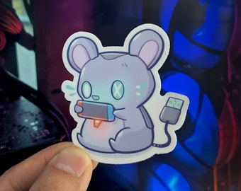 """Gaming Mouse Vinyl Sticker (3"""")"""
