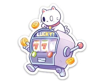 """Lucky Cat Vinyl Sticker (3"""")"""