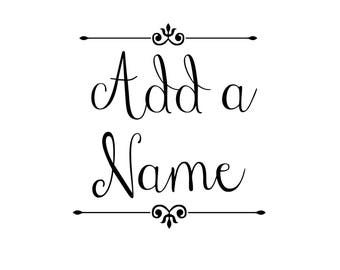 Add a Name to Your Shirt or Bodysuit