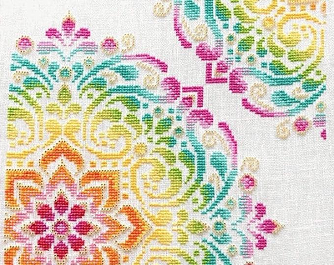 Shannon Christine Designs Abstract Art Cross Stitch Pattern Rainbow Mandala by Shannon Wasilieff Colorful Mandala PRIDE Sampler