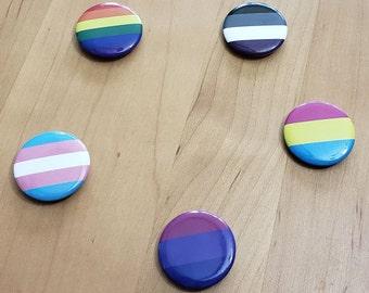 Special FUNDRAISER | PRIDE Flag Button Needleminder | PRIDE Rainbow Trans Bi Pan Ace  Needle Minder for Cross Stitch & Diamond Painting