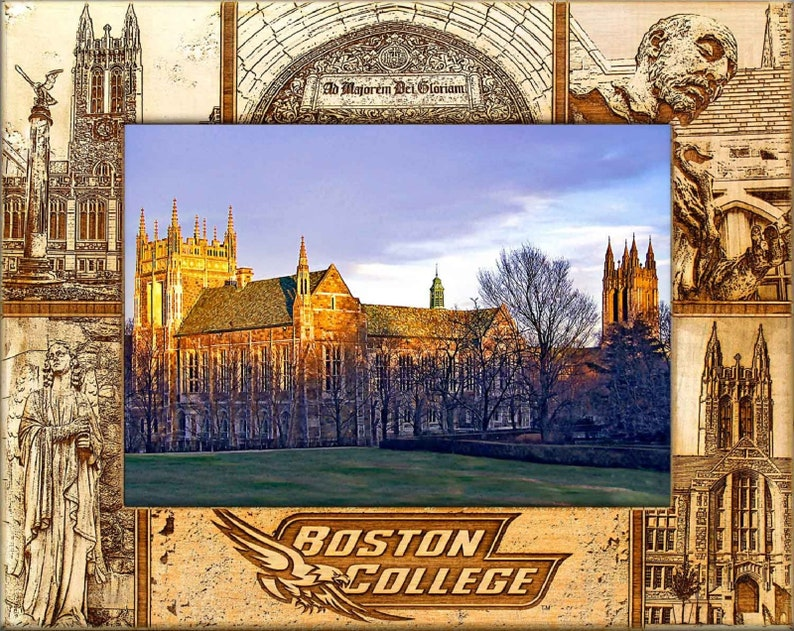 5 x 7 Boston College Laser Engraved Wood Picture Frame