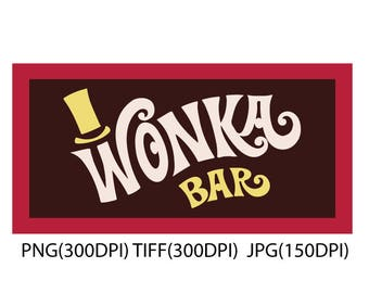 Wonka Bar Stencil For Boxes From Willy Wonka S Chocolate Etsy