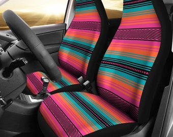 TurquoiseJade Green Chevron Stretchy Car Seat Cover