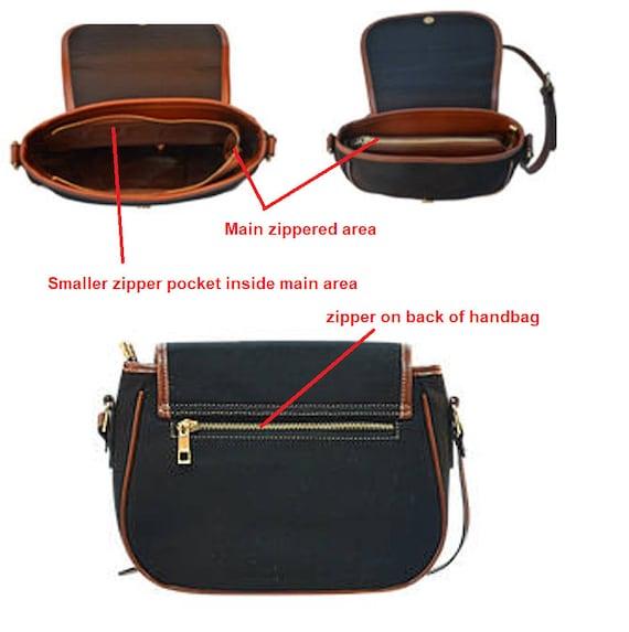 Red Poppies on Black with White Polka Dots Background Canvas Saddlebag Handbag