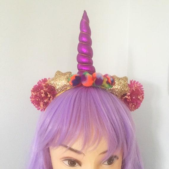 Purple unicorn headband  0b071f4f40c