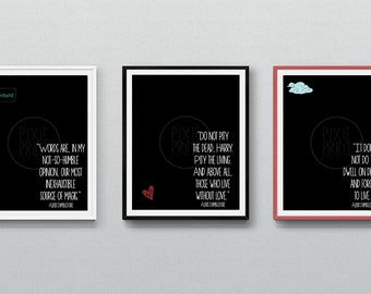 Harry Potter Dumbledore Quote Print Set