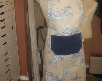 apron 100% cotton, thick fabric, DrawString