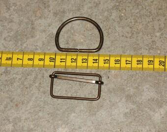 Accessories for bag width 4 cm color bronze