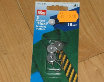 "CLEARANCE set 3 buttons ""flexible"" 15 mm"
