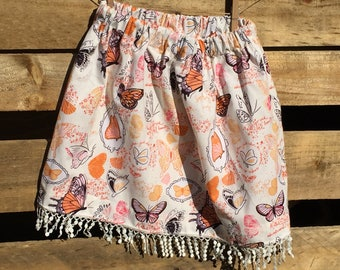 Strawberry Fields Skirt - 100% Cotton - Outskirts Apparel - Handmade  - All Sizes Available