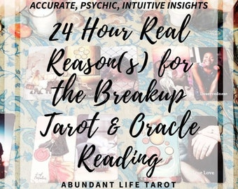 24 Hour, Real Reason(s) for Break up Tarot, 24 Hour Reading, Same Day, Fast, Love Tarot Reading, Accurate, Psychic, Tarot, Oracle, Intuitive