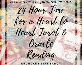 24 Hour Love, Time for a Heart to Heart, Same Day Reading, 24 Hour Love Reading, 24 Hour Tarot, Oracle, Accurate, Psychic, Oracle, Intuitive