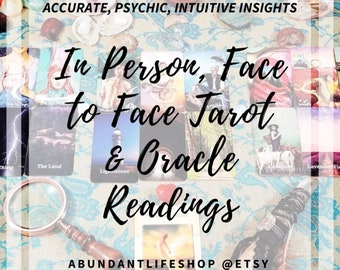 In-Person, Face to Face, Tarot, Oracle, Reading, Tarot Reading, Oracle Reading, Accurate, Psychic Read, Clairvoyant, Tarot Card Reader, Live