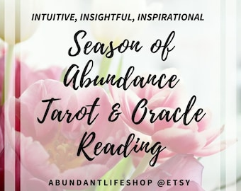 Accurate, VIDEO, Season of, Abundance, Tarot Reading, Oracle Reading, Wholeness Reading, Psychic Connection, Tarot Card Reader, Clairvoyant