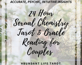 24 Hour, Sexual CHEMISTRY FOR COUPLES Tarot, Same Day Reading, 24 Hour Tarot Reading, Accurate, Psychic, Tarot, Oracle, Intuitive, Message