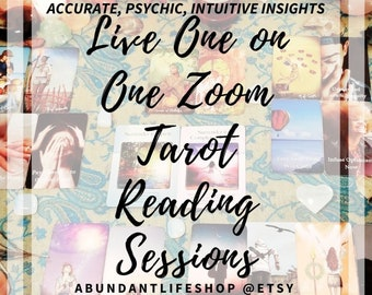 LIVE, One on One, Zoom, Skype, Tarot, Oracle, Reading, Tarot Reading, Oracle Reading, Accurate, Psychic Read, Clairvoyant, Tarot Card Reader