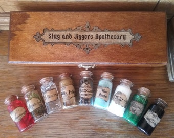 Harry Potter potions with wooden box set