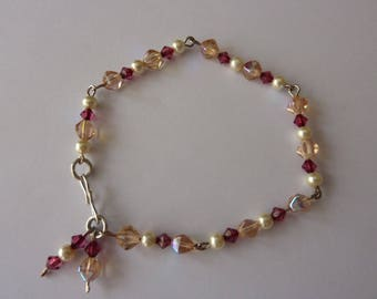 glass beads and Pearl Beads Bracelet d ' imitation