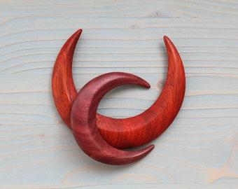 CELTIC Crescent Moon Wooden Wood HAIR STICK FORK PIN PICK HANDMADE.Natural.NEW
