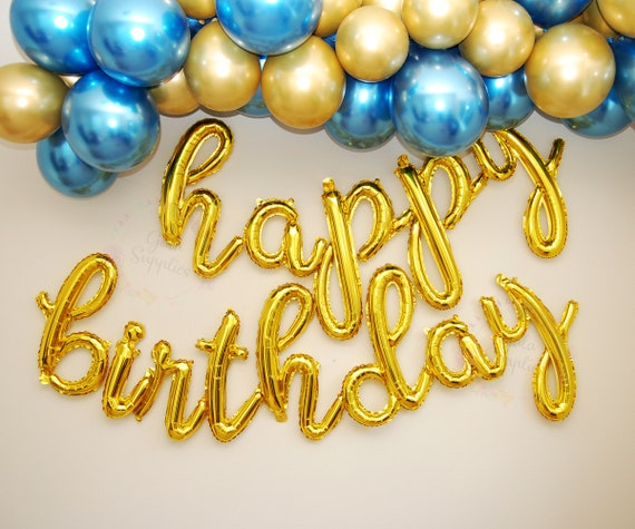 12 to 24 inches GOLD SILVER SCRIPT letter balloons create your own balloon banner phrase foil mylar letter balloons party banner