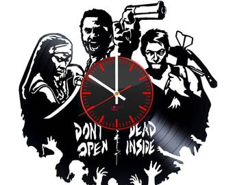 The Walking Dead Vinyl Record Wall Clock Housewarming Gift Room Decor