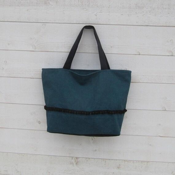 9f3c88fff59b Tote bag women two handles green Black Suede Ribbon
