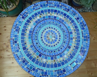 Mosaic table, 3 different models, colours as desired on request