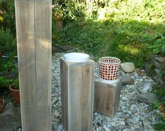 Wooden stele mosaic lantern column with lantern