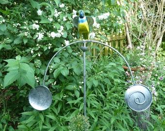 Garden pendulum Wind chime Garden plug Blue