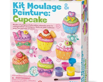 Creative Kit / cast plaster and paint: CUPCAKE / DIY molding and painting for children