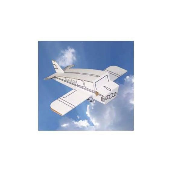 Coloriage Gommette Avion.Avion A Construire Et A Colorier Avec 6 Feutres Inclus Kit Creatif Diy Coloriage Anniversaire Enfant