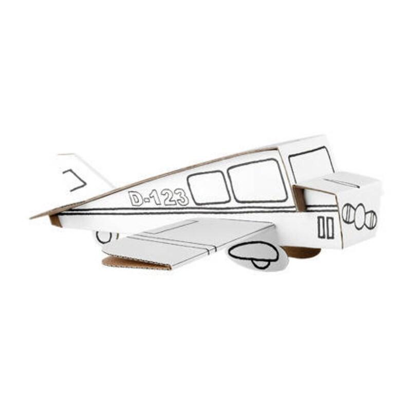 Avion A Construire Et A Colorier Avec 6 Feutres Inclus Kit Etsy