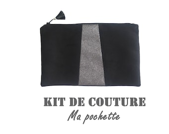 """Kit sewing - my pouch - model """"black and silver"""""""