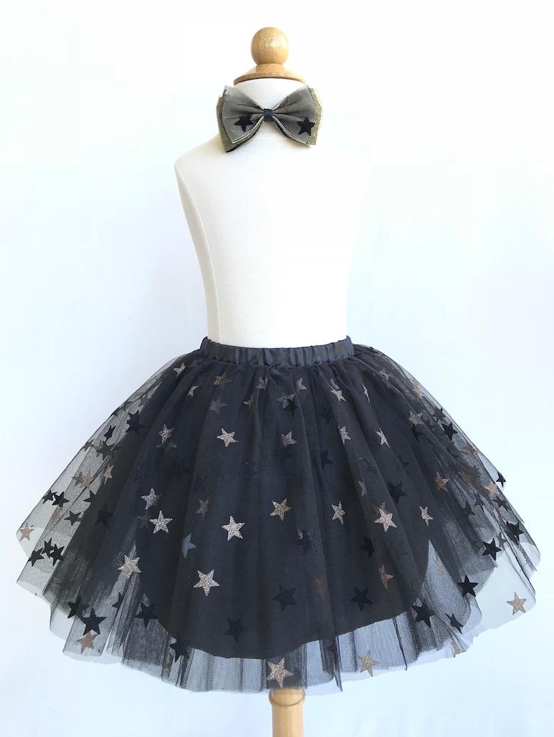 6e1f9712d7 Girl star tutu. Black and gold star skirt. Black star tutu.   Etsy