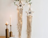 Star Macrame Tapestry Dreamcatcher, Unique Wall Art Decoration, Large Nursery Wall Hanging