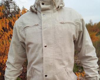 Hemp jacket/Hemp clothes/Organic clothes/Hemp/Men Jacket/Designer Jacket/eco clothes/Hand made/Jacket/Vegan fashion/Hemp fashion/Clothing/