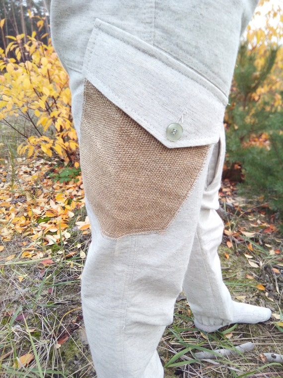 Hanf HoseHanf TuchHanf KleidungHerren Hoseübergroße HoseBio Hose Hanf handgefertigt Vegan Tuch natürliche Tuch Bio Tuch