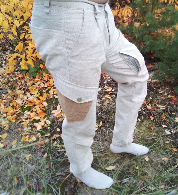 Pantalon chanvre pantalon/chanvre pantalon/chanvre chanvre tissu/chanvre Vêtements/hommes/surdimensionné pantalon Pantalon/bio / chanvre / fait main / tissu Vegan / naturel tissu Bio tissu / 784e8f