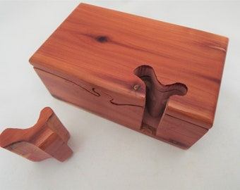 Wooden Puzzle Box Etsy