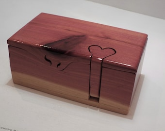 5th anniversary gift. Wood anniversary. Custom gift w/ heart key. Handmade for him or her. Custom puzzle box. & 5th anniversary gift | Etsy