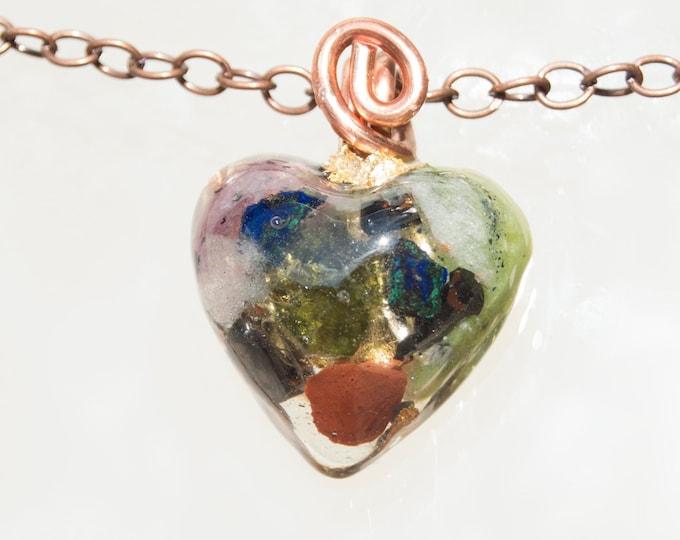 Orgonite® Moldavite Pendant with Azurite, Jade, Elite Shungite - EMF Harmonizing Orgone Necklace - 528hz Solfeggio