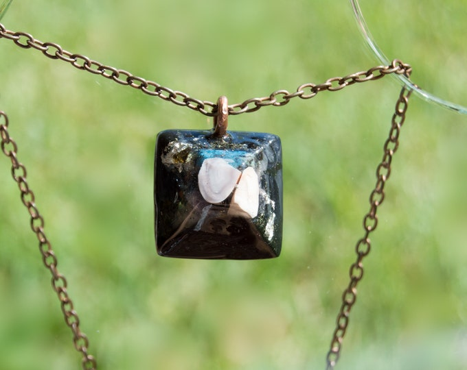 Orgonite® Botswana Agate Pendant with Elite Shungite, Tourmaline - EMF Harmonizing Orgone Necklace - 528hz Solfeggio