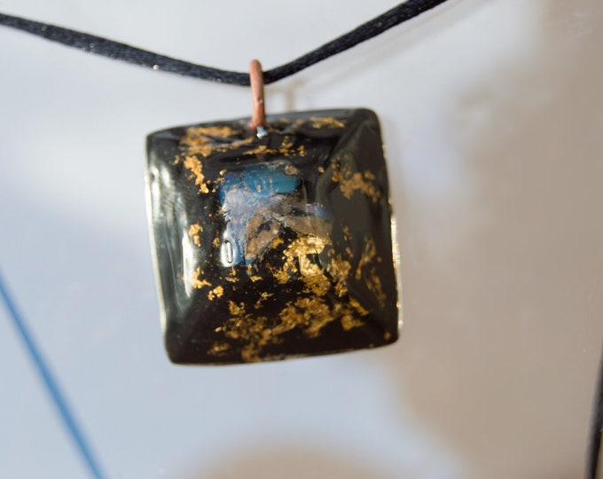 Orgonite® Fire Opal Pendant Elite Shungite, Black Tourmaline - Orgone Necklace - EMF shield - 528hz Solfeggio
