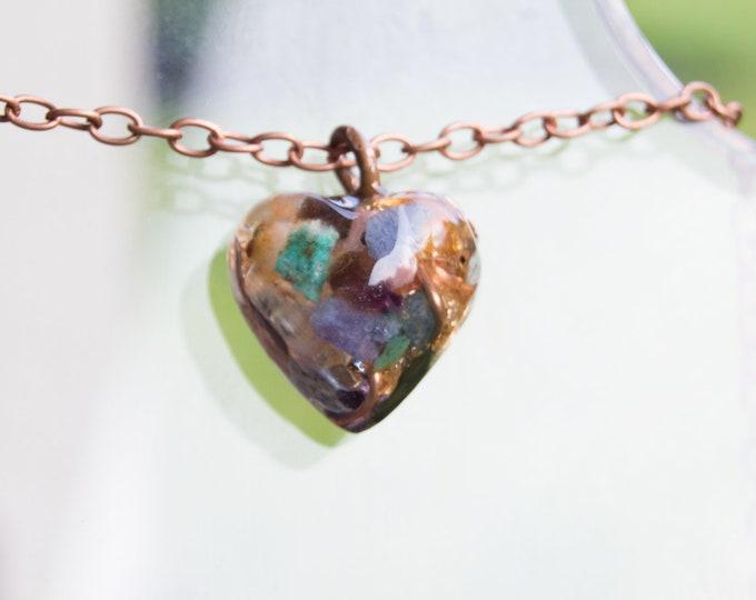 Orgonite® Pendant with Ruby, Tanzanite, Sapphire - Orgone Necklace - 528hz Solfeggio - Attuned Reiki Infused