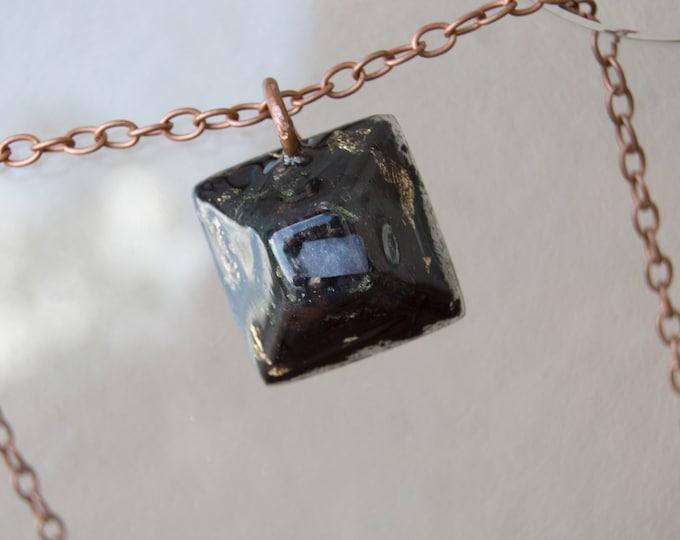Orgonite® Tanzanite with Tibetan Tektite and Elite Shungite  - Orgone Necklace - EMF shield - 528hz Solfeggio